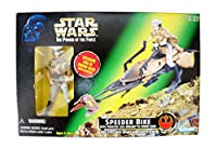【STAR WARS THE POWER OF THE FORCE】SPEEDER BIKE WITH PRINCESS LEINA ORGANA IN ENDOR GEAR【スター・ウォーズ スピーダーバイク ・ レイア 】