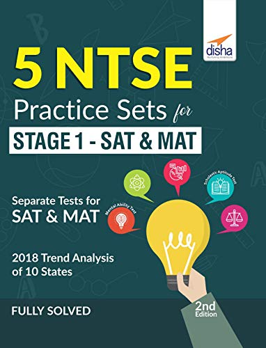 5 NTSE Practice Sets for Stage 1 - SAT & MAT 2nd Edition