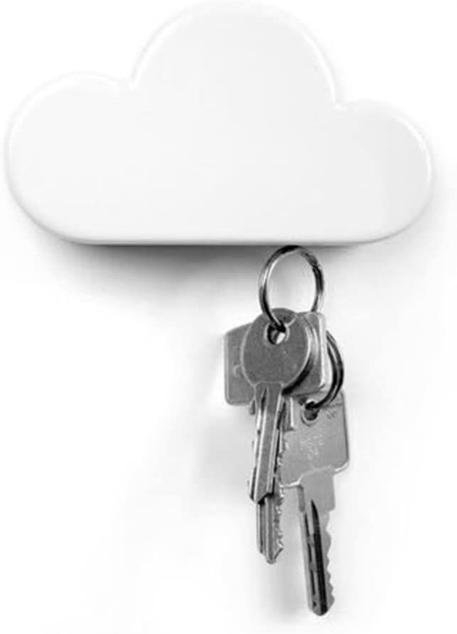 TWONE White A surprise price is Sales results No. 1 realized Cloud Magnetic Wall Key Adhesive - Novelty Holder Cu