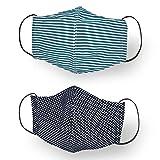 Centopercento Camicie Mascherina Filtrante Lavabile Cotone-TNT Tasca Filtro 3 PZ