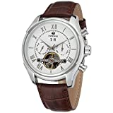 Forsining Automatique pour Homme Hommes Jour Calendrier Entreprise Marque Bracelet Cuir Montre Bracelet Fsg583m3s2