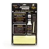 Solution Finish Black Plastic & Vinyl Restorer - 4oz Cleaner, 1oz Black Plastic & Vinyl Restorer, foam application brush, (2) microfiber sponge, microfiber towel, and (5) nitrile disposable gloves