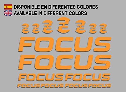 Ecoshirt 3G-JIGV-L1RM Pegatinas Focus F192 Stickers Aufkleber Decals Adesivi MTB Cicle Bike, Naranja
