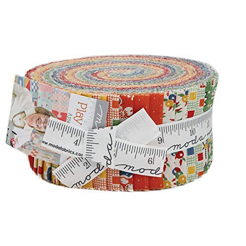 American Jane Play All Day Jelly Roll 40 2.5-inch Strips Moda Fabrics 21740JR