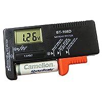 一目で電池残量がわかる液晶表示付きバッテリーチェッカー(Y)