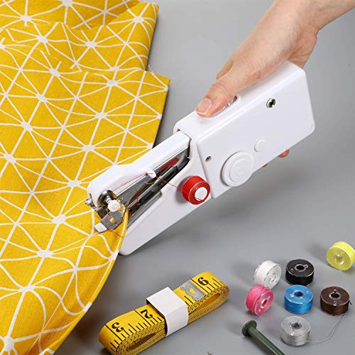 Trust&Fly Sewing Machines for Home Tailoring use, Electric Sewing Machine, Mini Portable Stitching Machine Hand held Manual silai Machine (White)