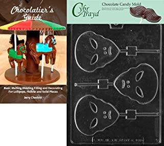 Cybrtrayd Alien Lolly Kids Chocolate Candy Mold with Chocolatier's Guide Instructions Book Manual