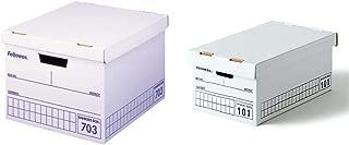 フェローズ バンカーズボックス 703 A4サイズ 青 3枚1セット 収納ボックス ふた付き 0970502 &  バンカーズボックス 101 <ミニサイズ> ハンドライティング