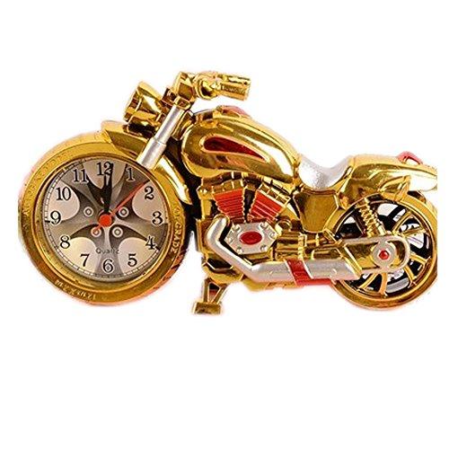 Original-Zwei-Ton-Gold Motorrad Clock Nacht Wecker Desktop Clock