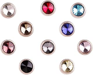 Joyci 10-Pack Women Shirt Brooch Buttons Lapel Pins Novelty Suit Vest Safety Buckle Metal Tie Tacks Pin Back Clutch