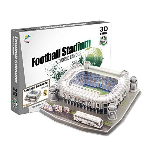 3D PUZZLE Stadium Puzzles 3D Estadio Fútbol DIY Puzzle Estadio Santiago Bernabéu(Spain) 3D Model Puzzle Unisex.Regalos Creativos para Niños, Jóvenes Y Adultos