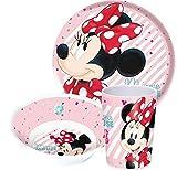 Minnie Maus Disney - Platos, cuenco para cereales y vaso (melamina)