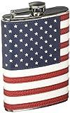 8oz Stitched American Flag Flask