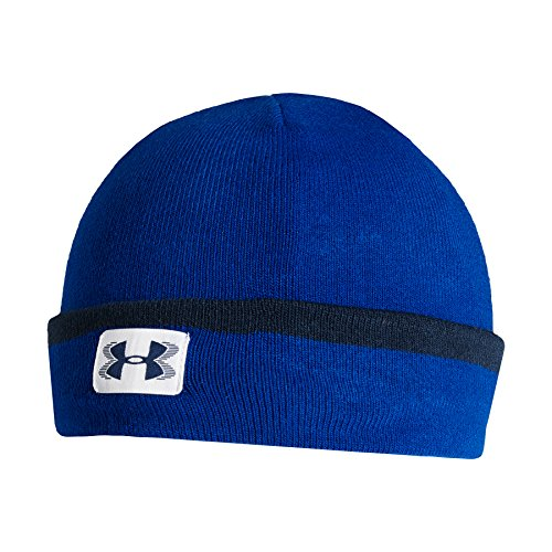 Under Armour 2015 ColdGear Infrared Cuff Sideline Beanie Mens Golf Winter Hat Royal