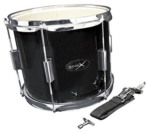 Gewa Basix Marching Drum, schwarz (12 Zoll) x (10 Zoll)