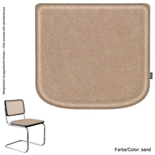 Feltd. Eco Filz Kissen geeignet für Marcel Breuer - Thonet Modell S32/S64-29 Farben - optional inkl. Antirutsch und gepolstert! (Sand)