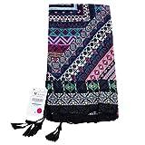 Folewr-8 - Toallas de Playa de Color Crema Solar, Bufanda, Falda, Monedero para Mujer,...