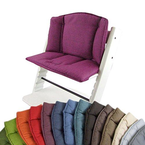 BAMBINIWELT vervangende overtrek, kussenset voor hoge stoel/kinderstoel Stokke Tripp Trap, stoelverkleiner (meliert) roze
