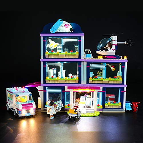 BRIKSMAX Kit di Illuminazione a LED per Lego Friends L'Ospedale di Heartlake,Compatibile con Il Modello Lego 41318 Mattoncini da Costruzioni - Non Include Il Set Lego.