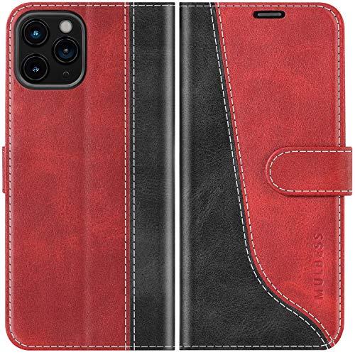 Mulbess Funda para iPhone 12 Pro MAX, Funda Móvil iPhone 12 Pro MAX, Funda Libro iPhone 12 Pro MAX con Tapa Magnética Carcasa para iPhone 12 Pro MAX 5G(6.7) Case, Vino Rojo