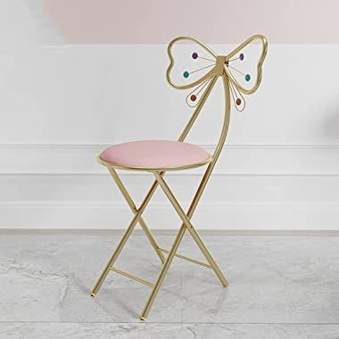 Makeup Chair Vanity Chair Dressing Stool Vanity Stool Butterfly Stool Chair Ottoman Bench Metal Bench Legs Bedroom Backrest D