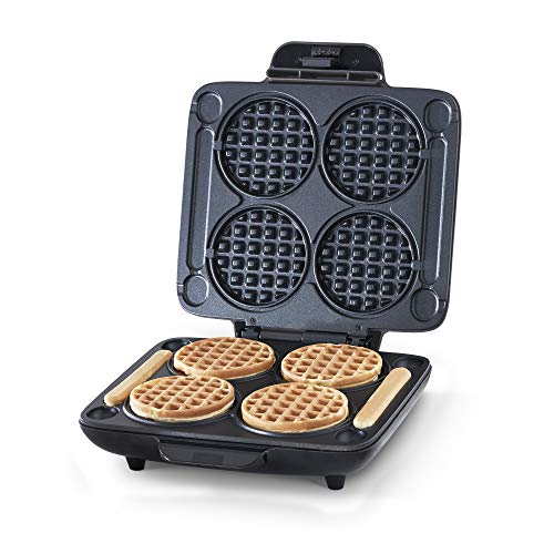 Dash DMMW400GBGT04 Multi Mini Four Waffle Maker: Perfect for Families and...