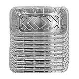 YepYes = 10PCS del Papel de Aluminio Bandeja de Goteo portátil platillos Desechables para Llevar envases de Comida de la Bandeja de Asar Juego de Cocina Accesorios de Cocina para Hornear