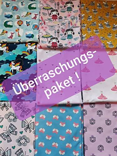 Babystoffe.de Überraschungspaket MÄDCHEN, Stoffpaket zum Nähen,Geschenk Nähen, Baby Stoffe, Jersey Bündchen