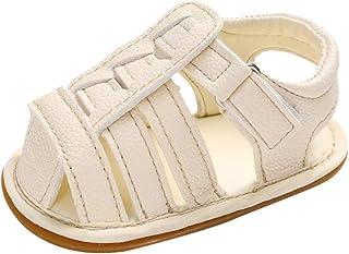 Cocity Newborn Kids Girls Boys Flat First Walk Shoes Sandals Closed-Toe Anti-Slip Casual Fashion Classic Shoes Sandal for 0-15M Toddler/Little Kid/Big Kids