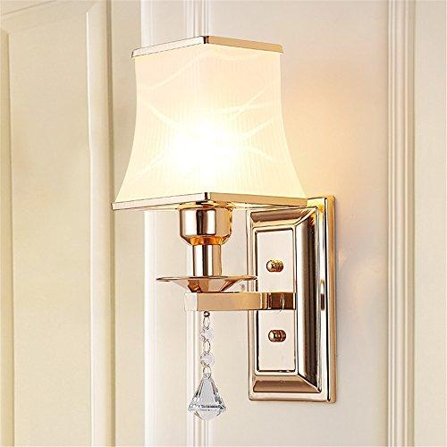 YU-K Chambre minimaliste lampe de chevet lampe murale salon élégant mur lampadaires dans l'étude du corridor routier applique murale lampe murale à led blanc fer 28 * 15cm