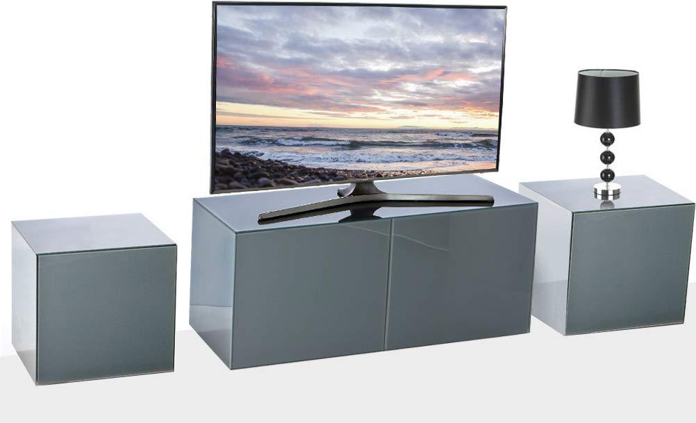 Frank Olsen negro intel1100gry TV armario y 2 x intellamp-gry lámpara Tables: Amazon.es: Electrónica