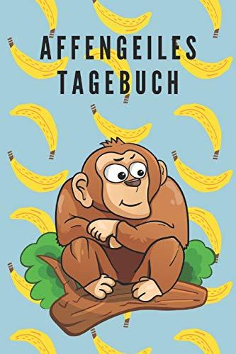 Affengeiles Tagebuch Reisetagebuch Notizbuch Affe auf dem Cover Blanko  A5 100 Seiten, Vintage Softcover, Weißes Papier - Dickes Notizheft, ... Tagebuch für schöne Momente des Lebens