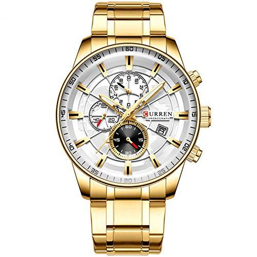 Relojes para Hombres Top Luxury Brand Fashion Quartz Men Watch Reloj de Pulsera de Negocios con cronógrafo a Prueba de Agua Relogio Masculino