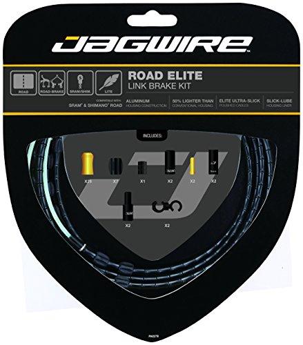 Jagwire Road Elite Link Bremsbeläge Kabelset und Gaines Unisex Erwachsene, schwarz