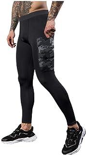 SANFASHION 2020 Newest Men Leggings Breathable Yoga Fitness Printed Long Pants Sport Gym Running Compression Comfy Underwe...