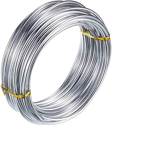 3mm Filo di Alluminio per Gioielli Artigianali che bordano floreale Filo metallico - Argento (10m)