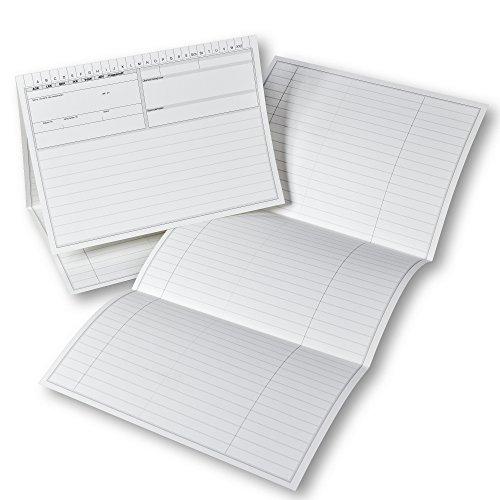 Karteitaschen 46 für Arzt, Praxis, Krankenhaus, DIN A5, 190g/m² Karton, Farbe: Weiß, 100 Stück