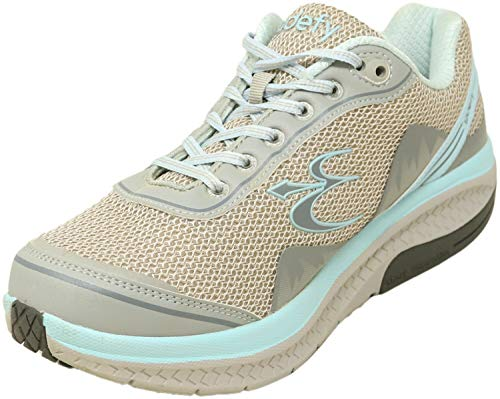 Gravity Defyer Pain Relief Women's G-Defy Mighty Walk Athletic Shoes 9 W US- Shoes for Knee Pain Grey Aqua