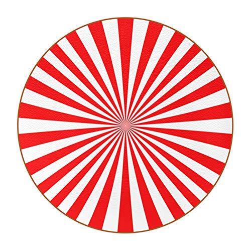 Posavasos divertidos para absorber bebidas, juego de 6 posavasos con parte superior e inferior antideslizante, bar, regalos de inauguración de la casa, fondo rojo Japón Sunbursta