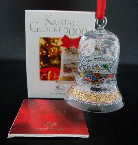 Hutschenreuther Kristall Glocke 2000*Rarität*Neu, Weihnachten, Weihnachtsglocke, Baumanhänger, Baumschmuck, Anhänger, Kristallglocke, Glasglocke