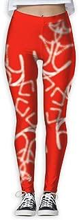 XMKWI Bright Snowflake Womens Power Flex Stretch Yoga Pants Workout Tights Leggings Trouser
