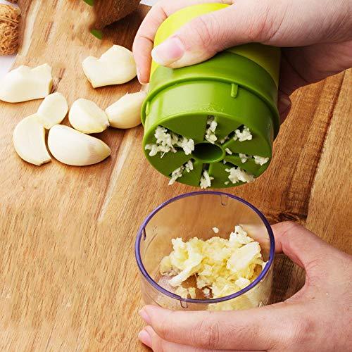 LUCKY-MOHET mit Knoblauchbehälter Brecher Erdnussnuss Fleischwolf Hackfleisch Knoblauchschneider praktisches Küchengerät