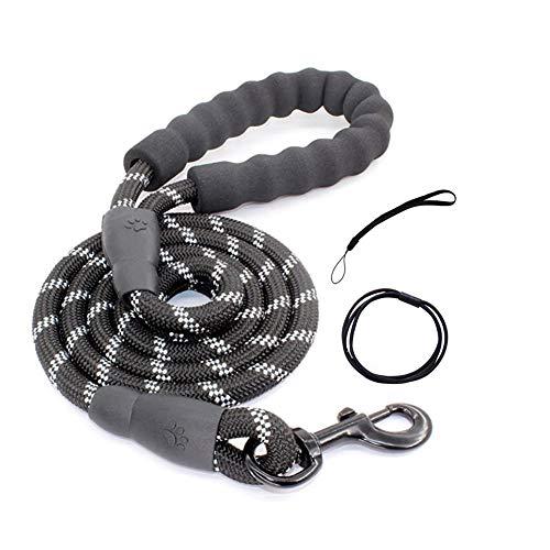 Guinzaglio per Cani 1,5M Robusto Guinzaglio per Cani con Comoda Impugnatura Imbottita.Adatto per Cani di Taglia Piccola Media e Grande (nero)