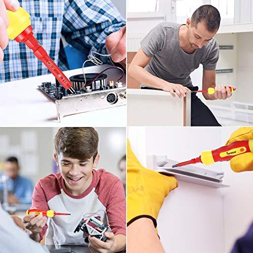 Magnetic Screwdriver Set,Famistar Insulated Interchangeable 14pcs Screwdriver Kit Set for Repair Home Improvement Craft