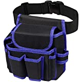 Tool Belt 600D Oxford Electrician Tool Belt Comfortable & Adjustable Tool Belt Pouch with 51.2IN/130CM Belt for Electricians Carpenters Plumbers Construction Workers Roofs Maintenance Workers Plumbe