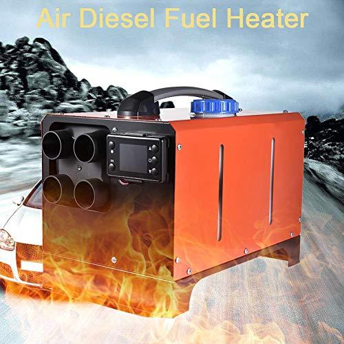 winnerruby – Calefacción de Parque diésel para Coche, 5 kW, 12 V/24 V, con Monitor LCD, 4 Orificios de estacionamiento para Coche, camión, RV, Remolque de Coche, Barcos