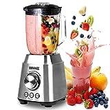 Duronic BL102 Frullatore da tavolo | blender | mixer cucina INOX 1000 W - Caraffa in vetro 1,5 L - Ideale per Smoothie, Frullati, Gaspachos, Nocciole, Granite, Cocktail, Frutta, Verdure