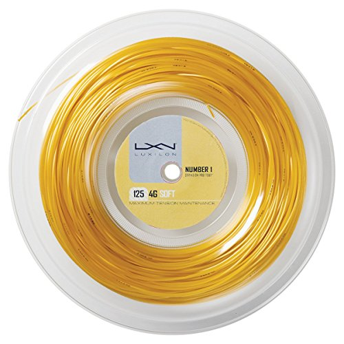 Luxilon 4G Soft Cordaje de tenis, rollo 200 m, unisex, dorado, 1.25 mm