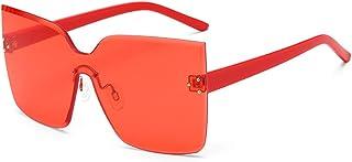 Sponsored Ad - OLINOWL Trimming Cat's Eye Oversized Sunglasses For Men And Women Colored Transparent Eyewear Oversized Gla...
