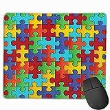 Mausunterlage,Spiel Maus Pad,Gaming Mauspad,Mausmatte,Bunte Stichsäge Puzzleteile Matte Mäuse Mousepad Für Office Home Laptop Computer Pc